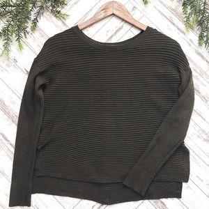 Tahari Back Button Up Sweater